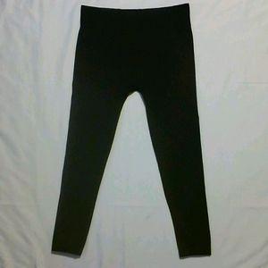 Black shosho Stretch Fleece Leggings L/XL